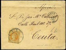 "81 Ed. 52 Cda De Madrid A ""Ceuta-Africa......."" - 1850-68 Kingdom: Isabella II"