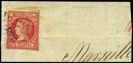 93 Ed. 53 Fragmento. Mat. Frances. - 1850-68 Kingdom: Isabella II