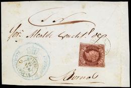 105 Ed. 58 Frente De Plica De Grazalema A Bornos - 1850-68 Kingdom: Isabella II