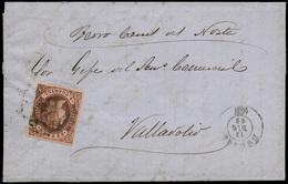 """106 Ed. 58 1862. De Burgos A Valladolid Con Indicación Manuscrita """"Ferrocarril Del Norte"""" - 1850-68 Kingdom: Isabella II"""