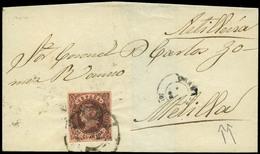 """109 Ed. 58 1863. Cda De Granada Al """"Coronel De Artilleria D. Carlos Gomez En Melilla"""". - 1850-68 Kingdom: Isabella II"""