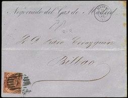 110 Ed. 58 De Madrid A Bilbao 14/Dic/1863. - 1850-68 Kingdom: Isabella II
