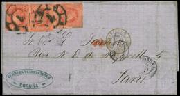 118 Ed. 64(3) 1864. De La Coruña A Paris. 30/11/64. - 1850-68 Kingdom: Isabella II