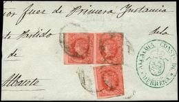 "119 Ed. 64(3) Frente Plica Judicial Cda Con Marca ""Alcaldia Constitucional De Herrera"" - 1850-68 Kingdom: Isabella II"