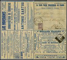 """783 Ed. 0 Laiz 157 - 1904. Cadete """"La Carta Postal Anunciadora 15cts"""". Carta-sobre Anunciadora Desplegable - Stamped Stationery"""