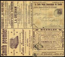"784 0 Laiz 159 - 1904. Cadete ""La Carta Postal Anunciadora 15cts."" Carta-sobre Anunciadora Desple - Stamped Stationery"