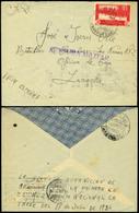 "988 Ed. 153 - Marruecos. 1937. Cda A Larache Y Manuscrito ""La Gloriosa Guarnición De Melilla....."" Rara - 1931-Today: 2nd Rep - ... Juan Carlos I"