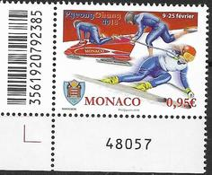 2018   Monaco Mi. 3378 **MNH  EUL Olympische Winterspiele, Pyeongchang. - Mónaco