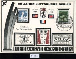 Berlin, Sonderpostkarte 20 Jahre Luftbrücke 1968 - [5] Berlin