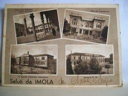 1942 - Saluti Da Imola - Vedute - Casa Del Dopolavoro - Stazione FF. SS. - R. Scuola Alberghetti - Cartolina Originale - Imola