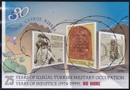 Zypern, 1999, Block 21, 25 Jahre Türkische Besetzung Nordzyperns. MNH ** - Cyprus (Republic)
