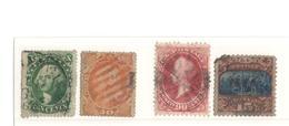 Lot Aus 1851-1870, Dabei Stumpfe Ecke Der 15 C, Marken Mit Einriss Zu 10c,30c,7c,90c - Gebraucht