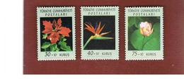 TURCHIA (TURKEY) - SG 1974.1976  - 1962 FLOWERS (COMPLET SET OF 3)     -     MINT** - 1921-... Republic