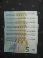 5 EURO V008 A1, SPAIN - ESPANHA,.... DRAGHI, UNC- FDS - NEUF - 5 Euro