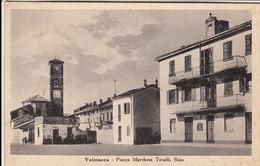 VALMACCA ALESSANDRIA PIAZZA MARCHESE TERSILLA BISIO - CARTOLINA SPEDITA NEL 1953 - Otras Ciudades