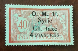 Syrie , Syria First Taxe 4 Pi.  #4  Very Scarce Signed , MH * - Syria (1919-1945)