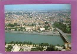 26 VALENCE SUR RHONE Le Rhône Et La Ville Vue Aérienne Pas Courante - Valence