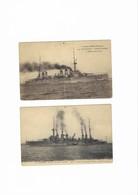 Deux Cuirassés à Turbines . Le DIDEROT  Et Le  CONDORCET - War 1914-18