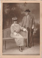 Photo N° 4 - Charles Léopold Van Eersel  Et Constance Van Eschen - Format 14 X 10,5 Cm Collée Sur Carton - Photographs