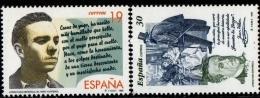 Spain 1995 Spanish Literature - Miguel Hernandez Poet, Don Juan Valera Writer - 2 Values MNH - Art