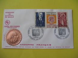 FDC  Andorre Français   1972  Andorre-La-Vieille    à Voir - FDC