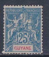 Guyane N° 46 (.)  Type Groupe, 25 C. Bleu, Neuf Sans Gommre Sinon TB - Neufs