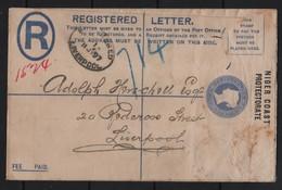 NIGER COAST REGISTERED ENVELOPE LIVERPOOL 1897 - Stamps