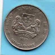 (r65) SINGAPORE  20 Cents 1989 - Singapur