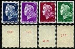 FRANCE, Cheffer, Yv 1535a, 1536b, 1536Ab, 1536Bc, ** MNH, F/VF, Cat. € 112 - France