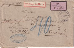 WÜRTTEMBERG 1880 LETTRE EN FRANCHISE CONTRE REMBOURSEMENT DE VAIHINGEN - Wuerttemberg
