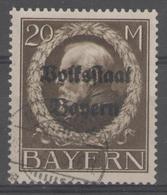 ALLEMAGNE/BAVIERE:  N°135 Oblitéré      - Cote 17€ - - Bavière