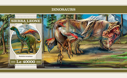 SIERRA LEONE 2018 - Dinosaurs S/S. Official Issue. - Préhistoriques