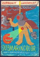 SUBMARINE COLOR - Original Hand-painted Poster For Coloring Ships - RIJEKA - Cc 1960 - Art