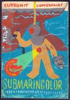 SUBMARINE COLOR - Original Hand-painted Poster For Coloring Ships - RIJEKA - Cc 1960 - Arte