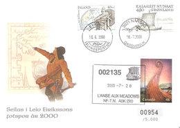 Greenland Iceland And Canada 2000 In Leiv Erickssons Footprints, Cover No 00954/5000, - Brieven En Documenten