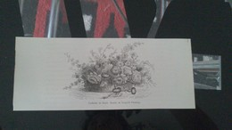 Affiche (dessin) - Corbeille De Fleurs (dessin De Flameng) - Manifesti