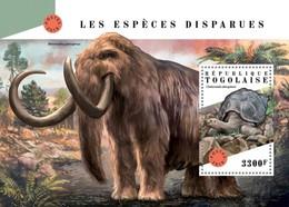 Togo 2018, Animals Extinct, Turtle, Mammouth, BF - Elephants