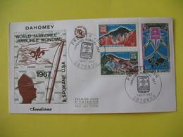 FDC  1967    Dahomey   -  Cotonou      à Voir - Benin - Dahomey (1960-...)