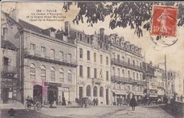 19---TULLE---La Caisse D'epargne Et Le Grand Hotel---( Croix-rouge )--( Tampon Hopital Auxiliaire N° 201 )--voir 2 Scans - Croix-Rouge