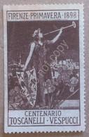 Erinnofilia Chiudilettera Italia 1898 - Firenze Centenario Toscanelli Vespucci - Italie