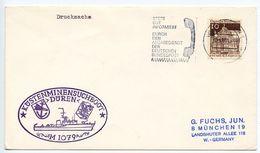Germany, West 1969 M-1079 Düren Coastal Mine Sweeper Ship Cover - [7] Federal Republic