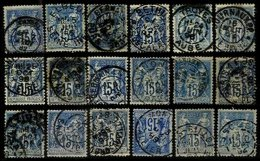 FRANCE, Cancels, Yv 90, 101, Used, F/VF - Marcophily (detached Stamps)