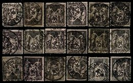 FRANCE, Cancels, Yv 97, Used, F/VF - Marcophily (detached Stamps)