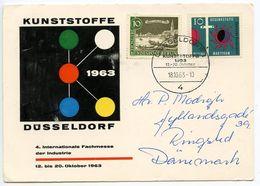 Germany, West 1963 Düsseldorf Plastics 4th International Industry Fair Card - [7] Federal Republic