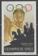 Berlin 1936 Olympics Olympic GAMES / Germany MH - LABEL CINDERELLA VIGNETTE / Brandenburger Tor - Estate 1936: Berlino