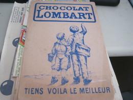 BUVARD PUBBLICITARIA CHOCOLAT LOMBART - Café & Thé