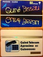Guinea-Bissau - GUB-4, Blue 50, Landis & Gyr (Optical), 50U, 803L, 3.000ex, 3/1998 - Guinée-Bissau