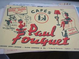 BUVARD PUBBLICITARIA PAUL FOUQUET - Coffee & Tea