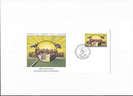 Marshall Islands, FDC, 1999, 20th Anniversary Marshall Islands Constitution, Open Klep - Marshall Islands