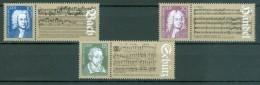 DDR - Komplettsatz Mi-Nr. 2931 - 2933 - 300. Geburtstag Johann Sebastin Bach Und Georg Friedrich Händel Postfrisch - Musik
